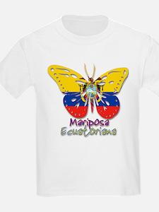 Mariposa Ecuatoniana Kids T-Shirt