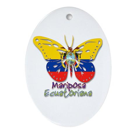 Mariposa Ecuatoniana Oval Ornament
