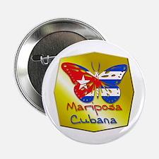 Mariposa Cubana Button