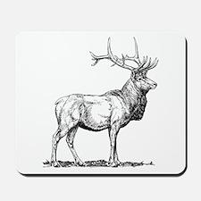 Elk Sketch Mousepad