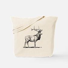 Elk Sketch Tote Bag