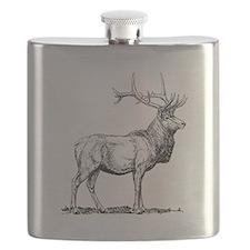 Elk Sketch Flask