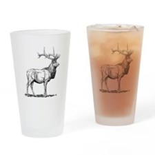 Elk Sketch Drinking Glass