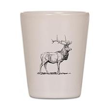 Elk Sketch Shot Glass