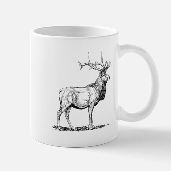 Elk Sketch Mugs