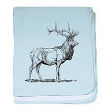 Elk Sketch baby blanket