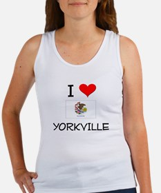 I Love YORKVILLE Illinois Tank Top