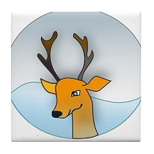 Cartoon Deer Tile Coaster