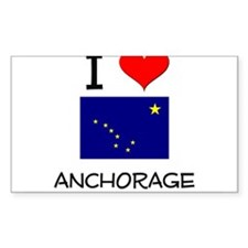 I Love ANCHORAGE Alaska Decal