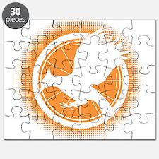 Catching Fire Mockingjay Orange Halftone Puzzle