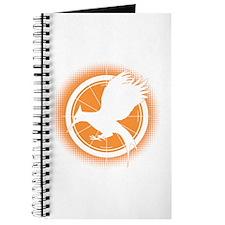 Catching Fire Mockingjay Orange Halftone Journal