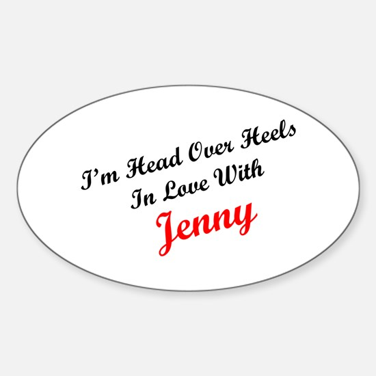 In Love with Jenny Oval Decal