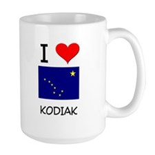 I Love KODIAK Alaska Mugs