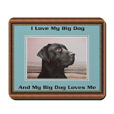 Black Labrador Big Dog Mousepad