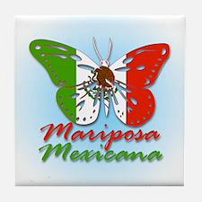 Mariposa Mexicana Tile Coaster