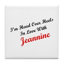 In Love with Jeannine Tile Coaster