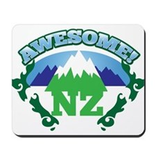 Awesome NZ New Zealand with Mountains Mousepad