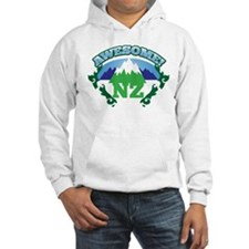 Awesome NZ New Zealand with Mountains Hoodie
