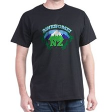 Awesome NZ New Zealand with Mountains T-Shirt