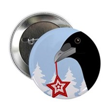 "Yuletide Crow 2.25"" Button"