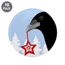"""Yuletide Crow 3.5"""" Button (10 pack)"""
