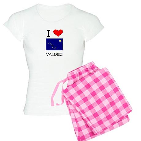 I Love VALDEZ Alaska Pajamas
