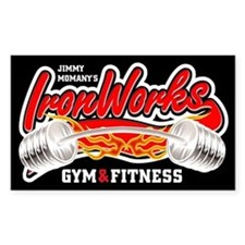 IronWorks Gym Rectangle Decal