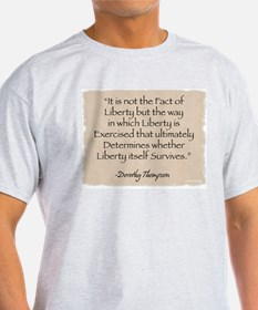 Ash Grey T-Shirt: Liberty-Thompson