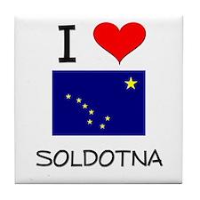 I Love SOLDOTNA Alaska Tile Coaster