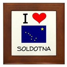 I Love SOLDOTNA Alaska Framed Tile