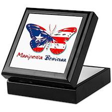 Mariposa Boricua Keepsake Box