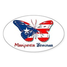 Mariposa Boricua Oval Decal
