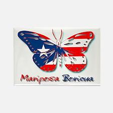 Mariposa Boricua Rectangle Magnet