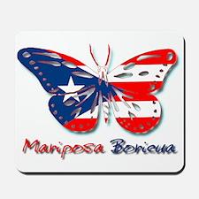 Mariposa Boricua Mousepad