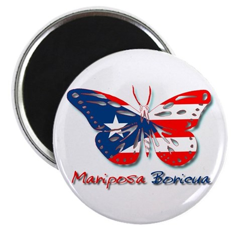 "Mariposa Boricua 2.25"" Magnet (100 pack)"