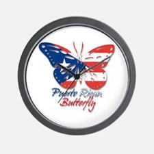 Puerto Rican Butterfly Wall Clock