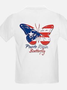 Puerto Rican Butterfly Kids T-Shirt