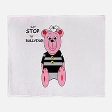Say Stop to Bullying Throw Blanket