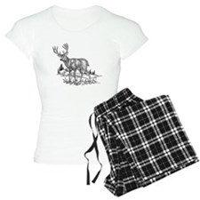 Stag Sketch pajamas