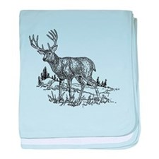 Stag Sketch baby blanket