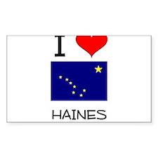 I Love HAINES Alaska Decal