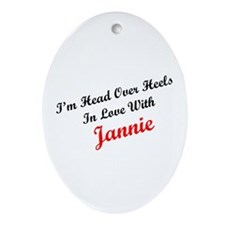 In Love with Jannie Oval Ornament