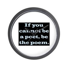 BE THE POEM Wall Clock