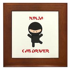 Ninja Cab Driver Framed Tile