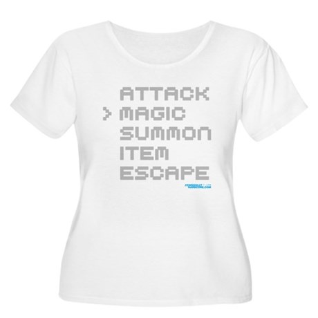 Magic Attack Women's Plus Size Scoop Neck T-Shirt