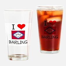 I Love BARLING Arkansas Drinking Glass