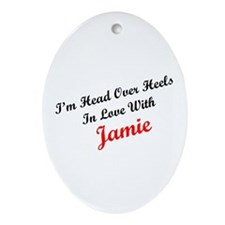 In Love with Jamie Oval Ornament