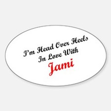 In Love with Jami Oval Decal