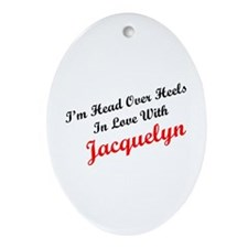 In Love with Jacquelyn Oval Ornament