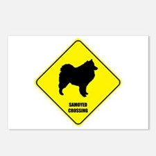 Samoyed Crossing Postcards (Package of 8)
